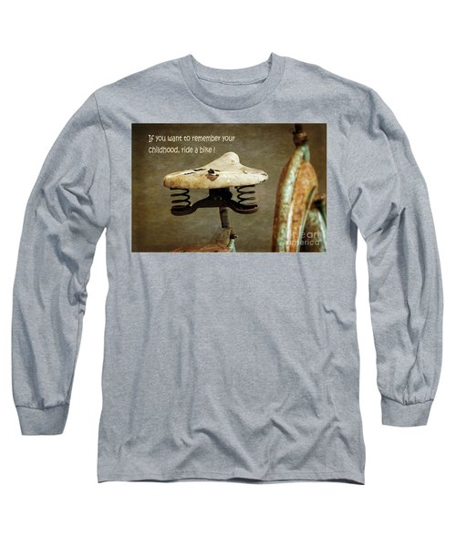 Carefree Summer Days On My Bike Long Sleeve T-Shirt