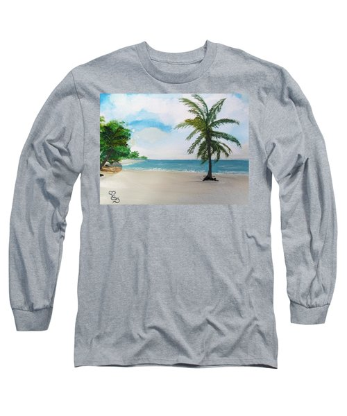 Caribbean Beach Long Sleeve T-Shirt
