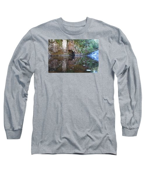 Long Sleeve T-Shirt featuring the photograph Carlson Creek Falls by Sandra Updyke