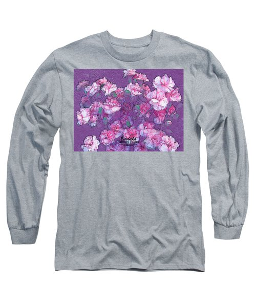 Carnation Inspired Art Long Sleeve T-Shirt by Barbara Tristan