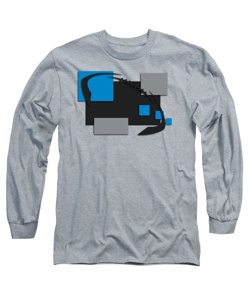 Carolina Panthers Abstract Shirt Long Sleeve T-Shirt by Joe Hamilton