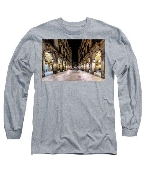Carrer De Colom Long Sleeve T-Shirt by Randy Scherkenbach