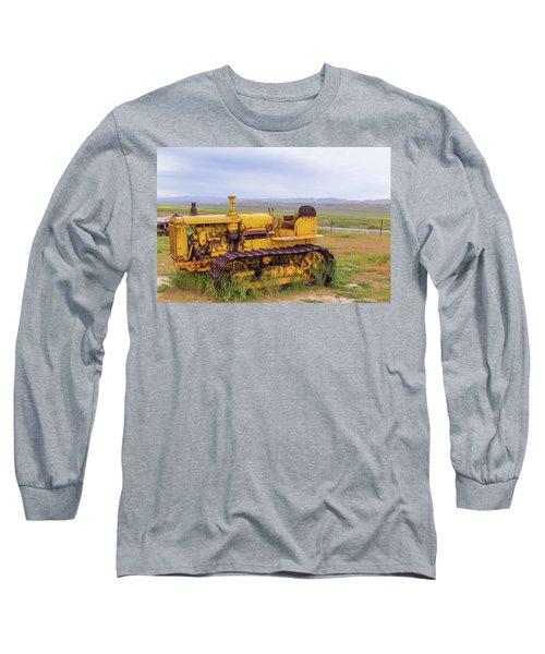 Long Sleeve T-Shirt featuring the photograph Carrizo Plain Bulldozer by Marc Crumpler