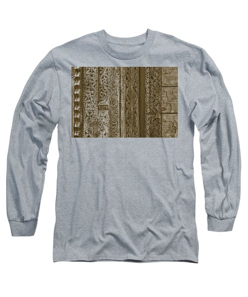 Long Sleeve T-Shirt featuring the photograph Carving - 1 by Nikolyn McDonald