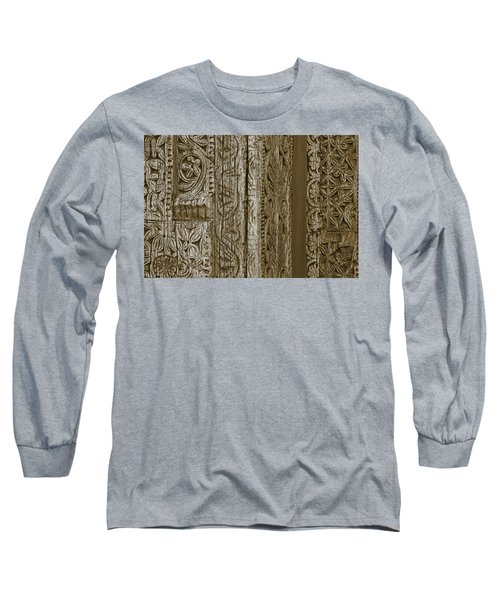 Long Sleeve T-Shirt featuring the photograph Carving - 2 by Nikolyn McDonald