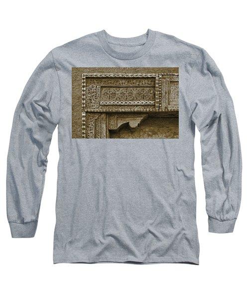 Carving - 3 Long Sleeve T-Shirt by Nikolyn McDonald
