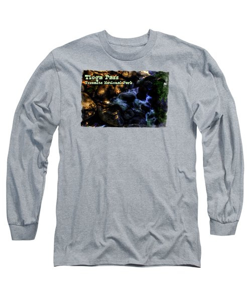 Cascade Along The Tioga Pass Yosemite Long Sleeve T-Shirt by Roger Passman