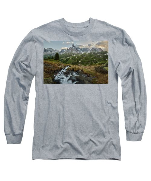 Cascade In The Alps Long Sleeve T-Shirt