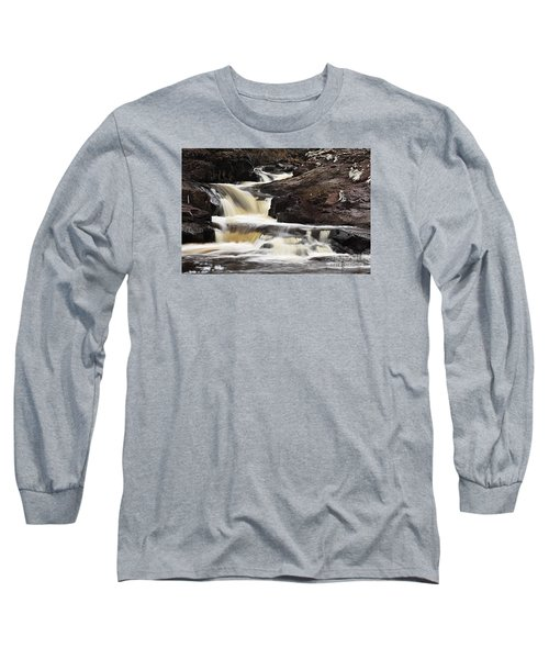 Long Sleeve T-Shirt featuring the photograph Cascade On The Two Island River by Larry Ricker