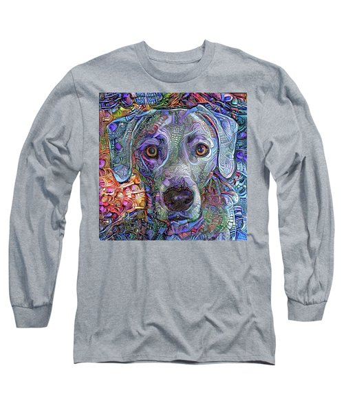 Cash The Blue Lacy Dog Closeup Long Sleeve T-Shirt