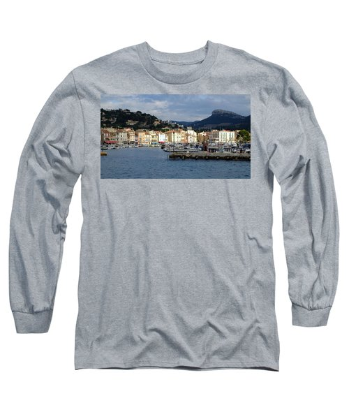 Long Sleeve T-Shirt featuring the photograph Cassis Town And Harbor by August Timmermans