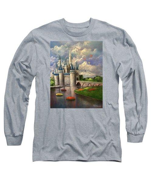 Castle Of Dreams Long Sleeve T-Shirt by Randy Burns