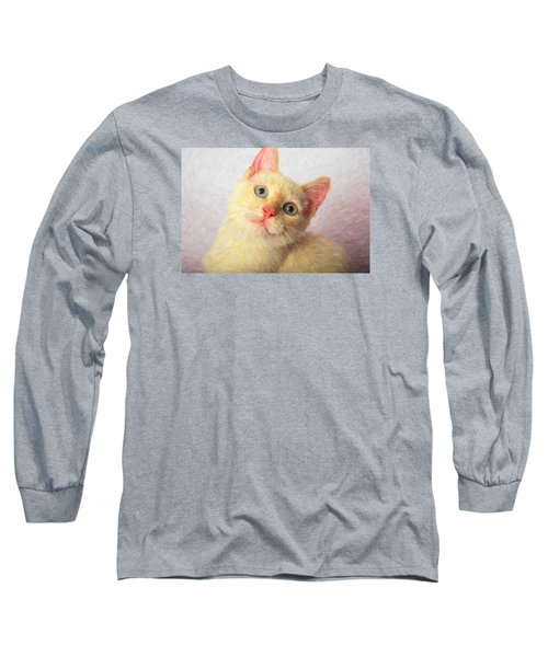 Cat Long Sleeve T-Shirt by Andre Faubert