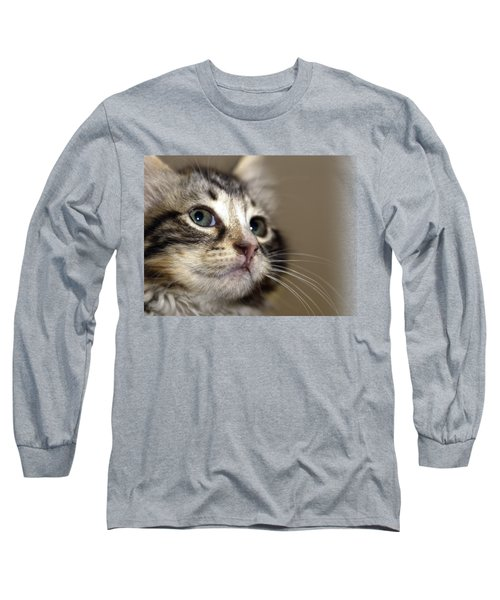 Cat T-shirt 2 Long Sleeve T-Shirt by Isam Awad