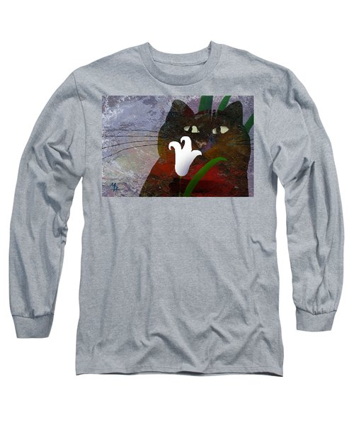 Cat With Lily Long Sleeve T-Shirt