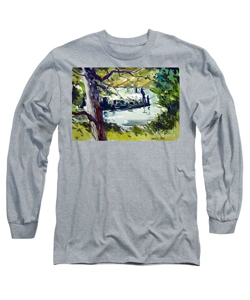 Catching Summer Dreams Framed Matted Glassed Long Sleeve T-Shirt