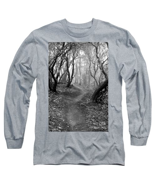 Cathedral Hills Serenity In Black And White Long Sleeve T-Shirt by Marie Neder