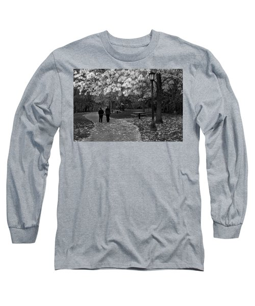 Cathedral Park In Fall Bw Long Sleeve T-Shirt