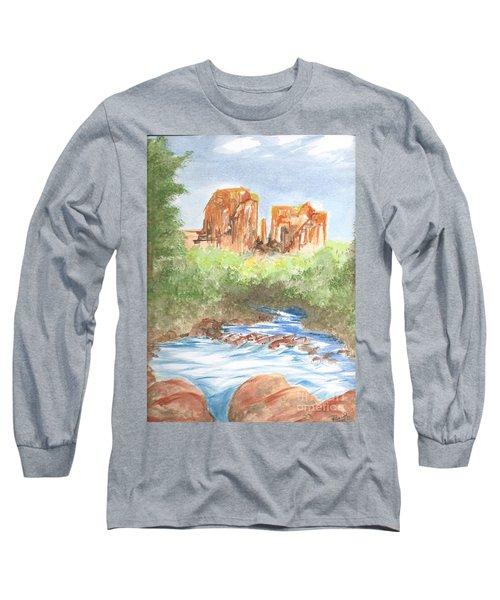 Cathedral Rock 2,  Sedona, Az. Long Sleeve T-Shirt