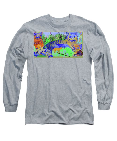 Cats And A Fiddle Long Sleeve T-Shirt