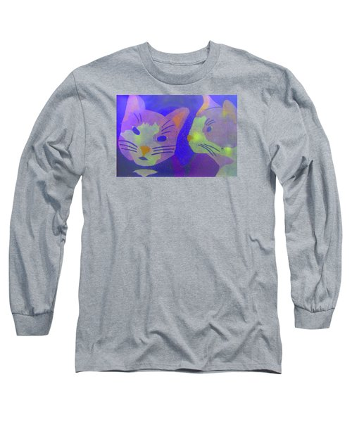 Long Sleeve T-Shirt featuring the photograph Cats On A Wall by John King