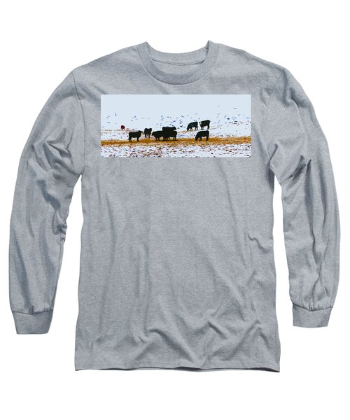 Cattle And Birds Long Sleeve T-Shirt