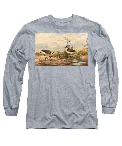 Cayley Masked Lapwing. Vanellus Miles Long Sleeve T-Shirt