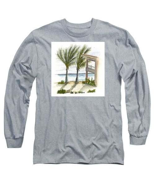 Cayman Hotel Long Sleeve T-Shirt by Darren Cannell