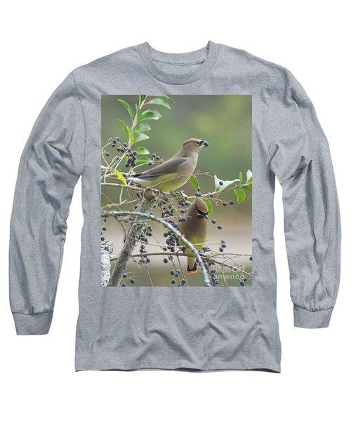 Cedar Wax Wings Long Sleeve T-Shirt