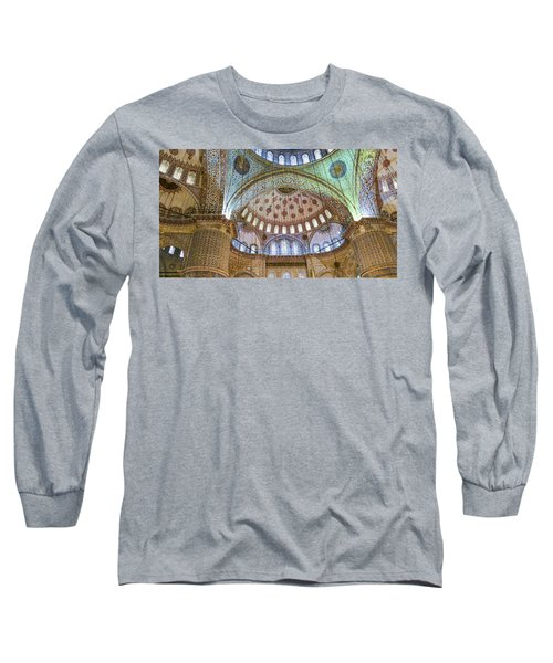 Ceiling Of Blue Mosque Long Sleeve T-Shirt