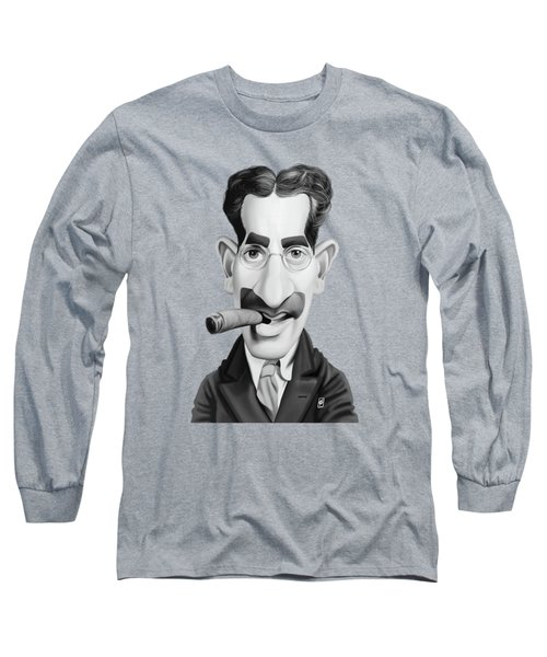 Celebrity Sunday - Groucho Marx Long Sleeve T-Shirt by Rob Snow