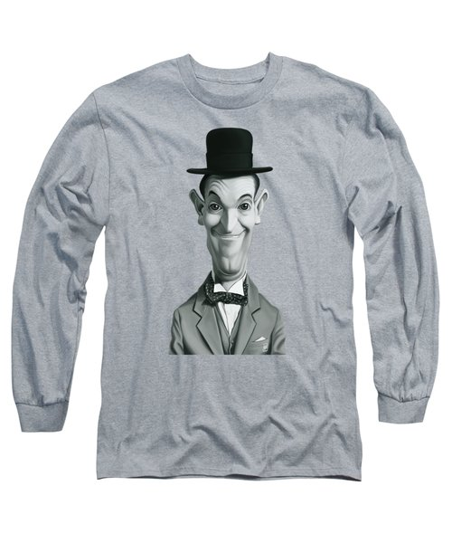 Celebrity Sunday - Stan Laurel Long Sleeve T-Shirt by Rob Snow