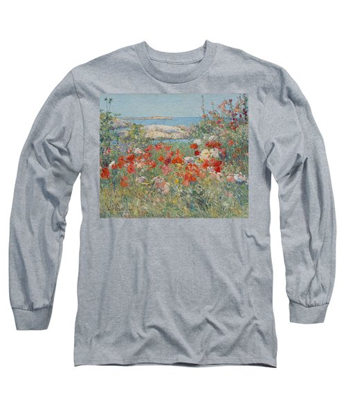 Celia Thaxter's Garden, Isles Of Shoals, Maine Long Sleeve T-Shirt