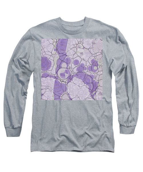 Long Sleeve T-Shirt featuring the digital art Cellules - 03c2 by Variance Collections