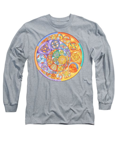 Celtic Crescents Rainbow Long Sleeve T-Shirt