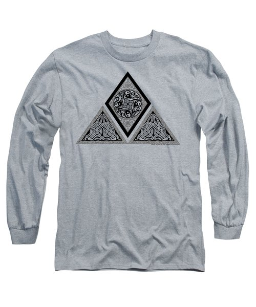 Long Sleeve T-Shirt featuring the mixed media Celtic Pyramid by Kristen Fox