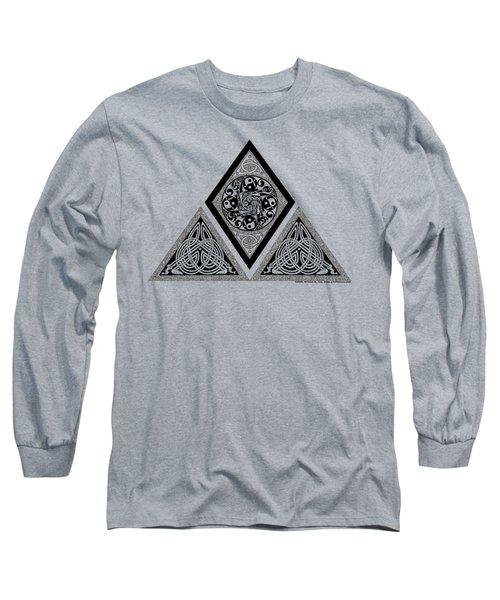 Celtic Pyramid Long Sleeve T-Shirt by Kristen Fox