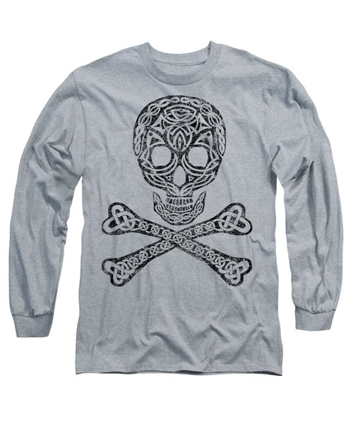 Celtic Skull And Crossbones Long Sleeve T-Shirt
