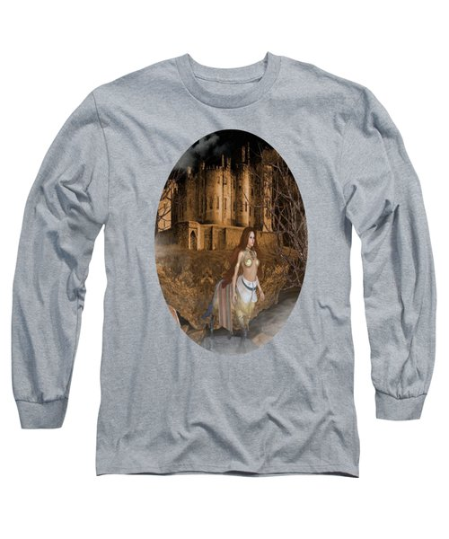 Centaur Castle Long Sleeve T-Shirt by G Berry