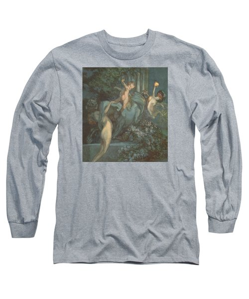 Centaur Nymphs And Cupid Long Sleeve T-Shirt