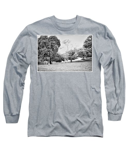 Long Sleeve T-Shirt featuring the photograph Central Park In Black And White by Madeline Ellis