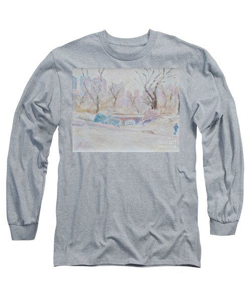 Central Park Record Early March Cold Circa 2007 Long Sleeve T-Shirt