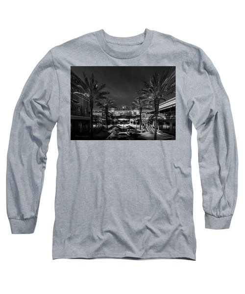 Long Sleeve T-Shirt featuring the photograph Centro Ybor Bw by Marvin Spates
