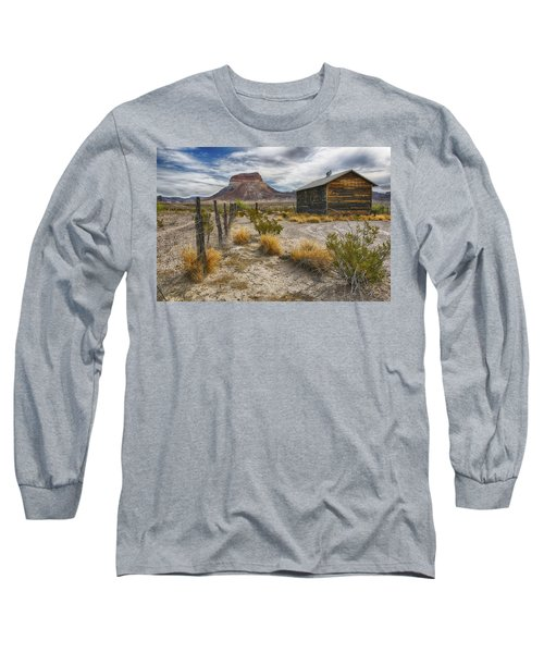 Long Sleeve T-Shirt featuring the tapestry - textile Cerro Castellan - Big Bend - Color by Kathy Adams Clark