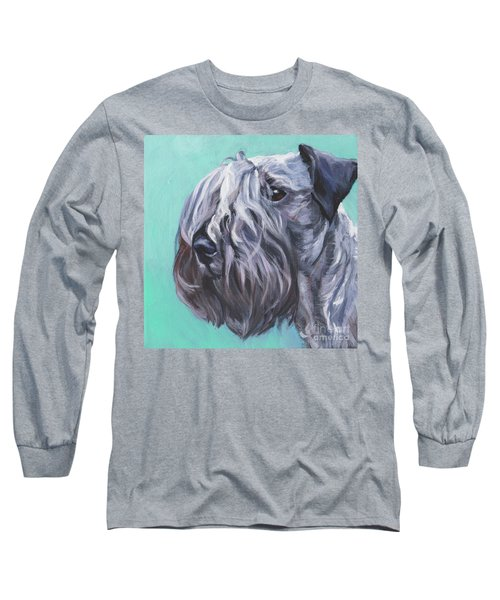 Long Sleeve T-Shirt featuring the painting Cesky Terrier by Lee Ann Shepard