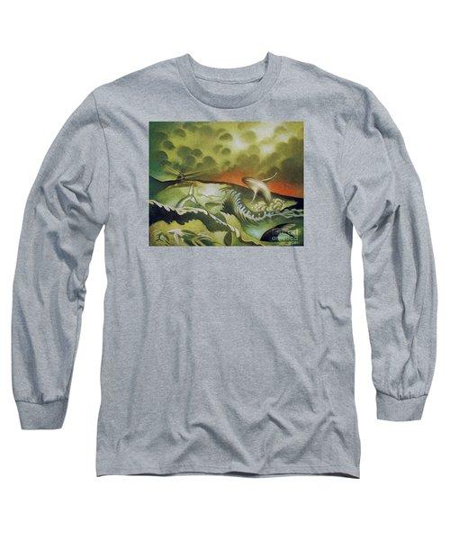 Cetacean Sunset Long Sleeve T-Shirt