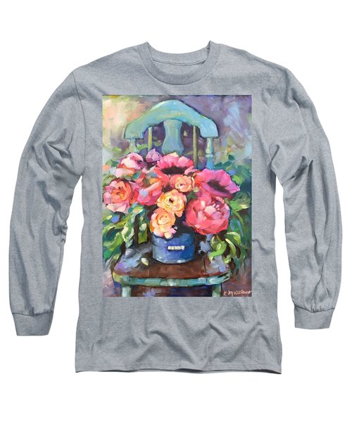 Chair With Flowers Long Sleeve T-Shirt
