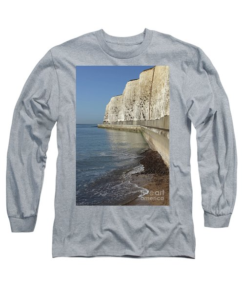 Chalk Cliffs At Peacehaven East Sussex England Uk Long Sleeve T-Shirt
