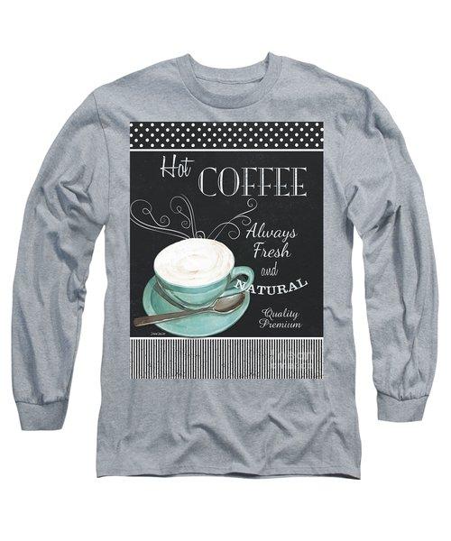 Chalkboard Retro Coffee Shop 1 Long Sleeve T-Shirt