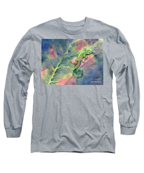 Chameleon Long Sleeve T-Shirt by Amy Kirkpatrick